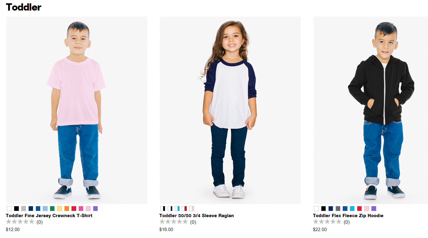 Kids apparel, infant , toddlers american apparel