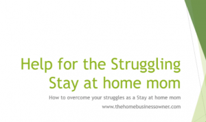 Podcast on Helpful tips for the struggling stay at home mom