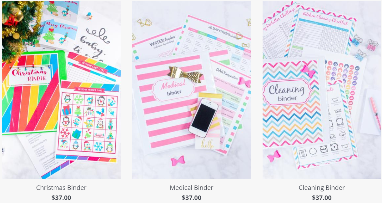 Binders and Planners by Sarah titus
